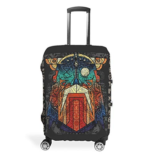 Knowikonwn Viking Warrior Travel koffer Cover - Wasbaar 4 maten pak veel bagage Case