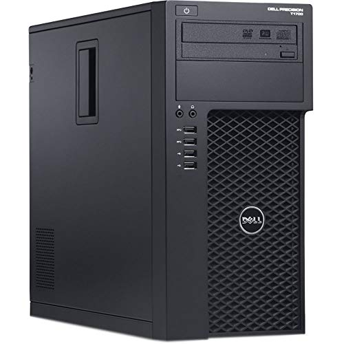 Dell Precision T1700 Workstation, Quad-Core i7 4770 Upto 3.9GHz, 16GB DDR3, 1TB SSD + 500GB HDD, 4K 3-Monitor Support(2X DP x 1 VGA), WiFi, Bt 4.0, DVD-RW, USB 3.0, Win 10 Pro(Renewed)