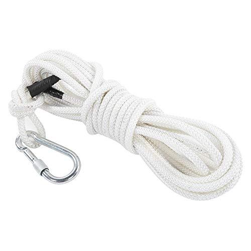 32,8 pies 0,3 pulgadas Cuerda de seguridad de supervivencia Cordón auxiliar de cuerda Cable de 6 hebras Resistente al fuego Resistente a altas temperaturas para montañismo Escalada en roca Escalera de