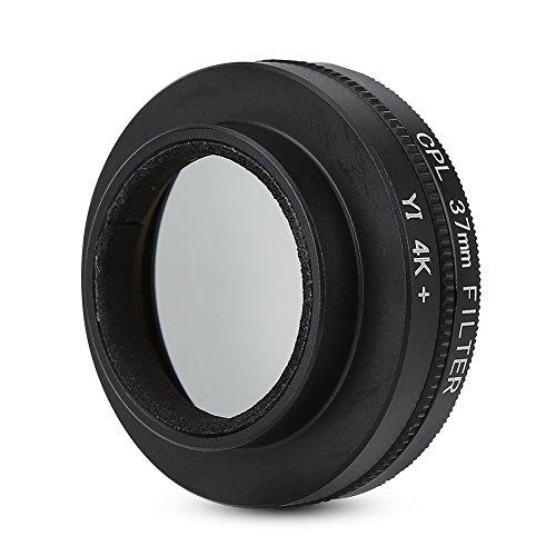 Elerose 37mm Filtro polarizzatore circolare con adattatore Anello Cappuccio protettivo per Xiaomi Yi 4k / 4k + / Lite