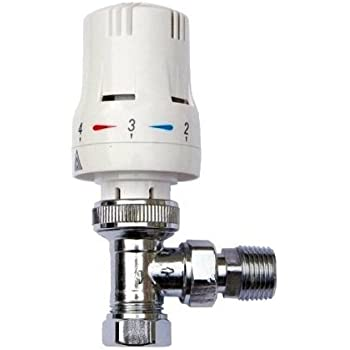 V/álvula de radiador termost/ática en /ángulo de 1//2 x 8//10//15 mm