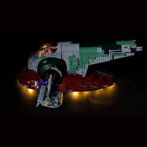 ZJJ Kit de luz LED Compatible con Lego 75060 Modelo de Bloque de construcción Adecuado para Lego (Star Wars UCS Slave No.1) Set de iluminación DIY (no Incluye el Conjunto de Lego)