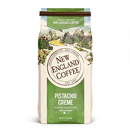New England Coffee Pistachio Crème Medium Roast Ground Coffee 11 Ounce Bag