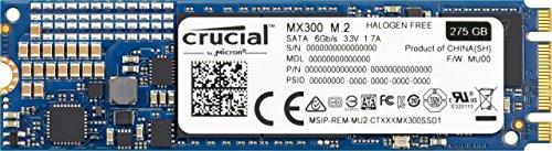Crucial MX300 CT275MX300SSD4 275 GB Internes SSD (3D NAND, SATA, M.2 (2280))