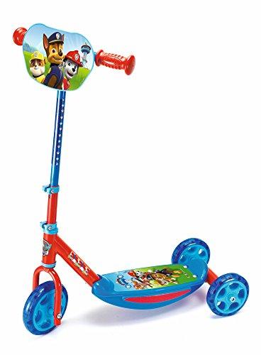 Smoby - Paw Patrol Roller - 3 Rädriger Scooter, höhenverstellbaren Lenker, stabiler Metallrahmen, einfachen Transport, für Kinder ab 3 Jahren