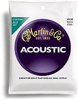 Martin M130 80-20 Silk & Steel Strings Acoustic Guitar Frets