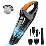 Handheld Vacuum, 6500PA Cordless Hand Vacuum, Mini Portable Vacuum Cleaner Handheld with Rechargeable 2500mAh for Pet Hair, Home, and Car Cleaning