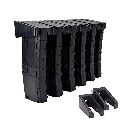 Adoreal ABS 6 Standard PMAG Rack Wall Mount, Wall Magazine Display, Detachable Wall Mags Storage Organization System