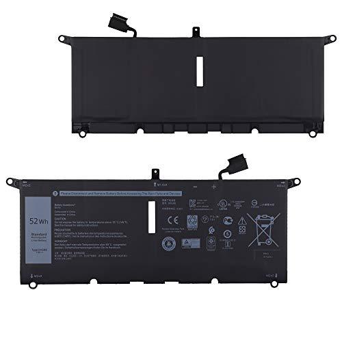 E-yiiviil Batería de repuesto DXGH8 compatible con Dell XPS 13 9370 XPS 13 9380 7.6V 52WH H754V G8VCF 52WH