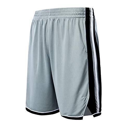 WWWJ Gioventù San Antonio Spurs Nero Swingman Icona Performance Pantaloncini, stdengts Shorts più Popolari Grey-M