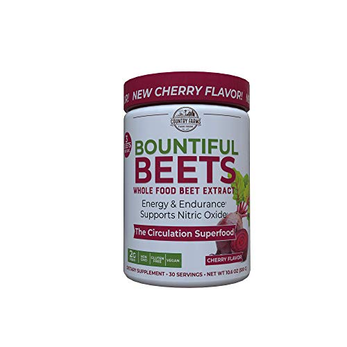 Country Farms Bountiful Beets, Wholefood Beet Extract Superfood, Circulation Superfood, 30 Servings (Packaging may vary)
