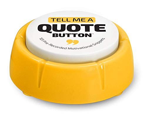 Motivational Sound Button   Cool Office Desk Decor Gadget 101 Pre-Recorded Motivational Quotes   Positive Thinking Easy Button, Better Than Affirmation Cards   Novelty Gag Inspirational Gift