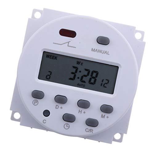 NINGXUE-MAOY 12V DC LCD Digital programable de alimentación de Control de Tiempo del Temporizador de retransmisión conmutador de Emergencia, Utilizado ampliamente for controlar el LED de la lámpara