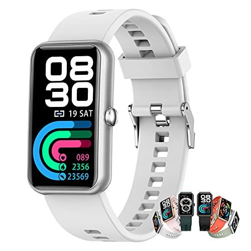 BNMY Relojes Inteligentes Hombre Llamada Bluetooth con Pulsómetro,Podómetro,Monitor De Sueño,Modos De Deportes Cronómetrol,Pulsera De Actividad,Smartwatch Inteligentes Hombre para iOS Y Android,F