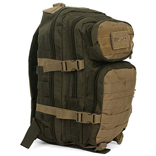 Mil-Tec US Assault Pack Backpack,L,Ranger Green/Coyote