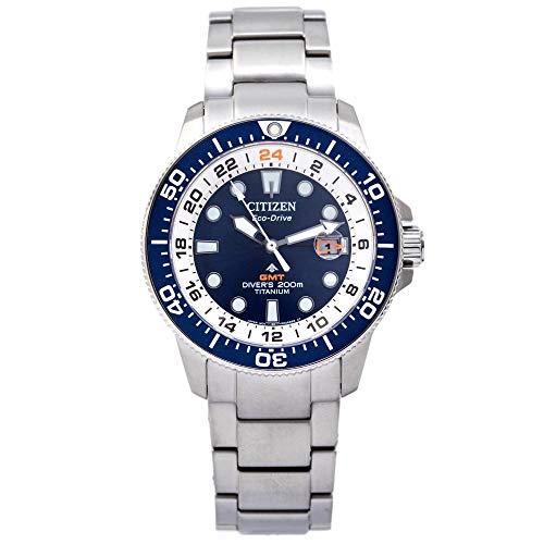 Citizen Reloj de Buzo de Titanio autoamatico Quad Azul BJ711