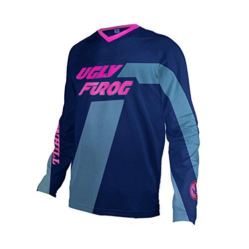 Uglyfrog 2018 Downhill Trikot Herren Lange Ärmel Mountainbike Freeride BMX Fahrradtrikot Motocross MTB/Downhill Bekleidung