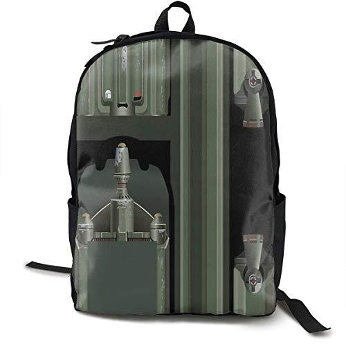 AOOEDM Qatdesy Sci-Fi Jetpack School Backpack Lightweight, Unisex Classic Backpack,Laptop Bag, Travel Bag
