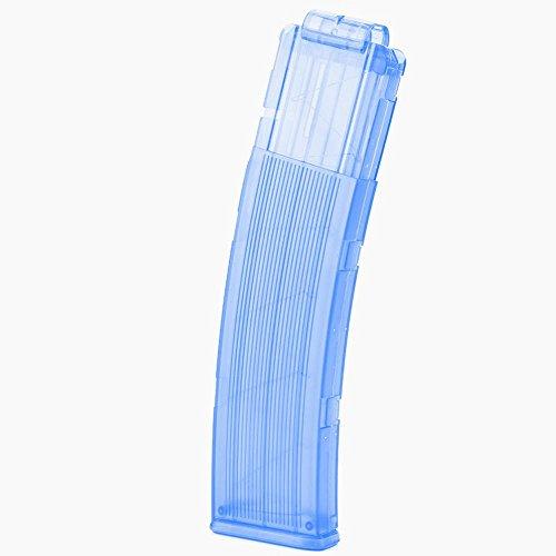 Clip de Bala para Pistola de Juguete 22 Dardos Recargador Rápido Cargador de Balas para Pistola de Juguete N-Strike Elite(Azul)