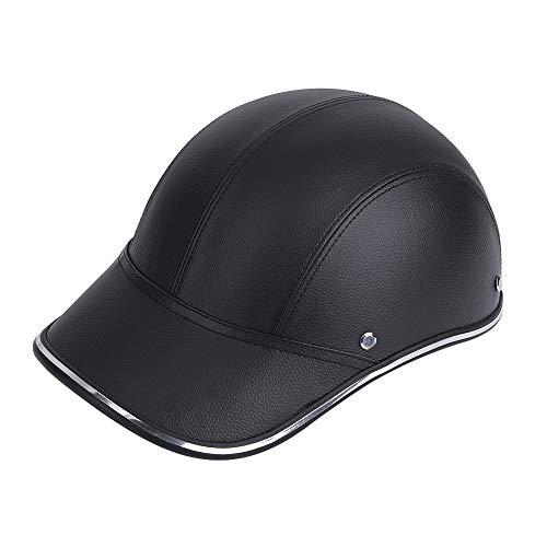 Casco medio abierto, motocicleta, bicicleta, gorra de béisbol, casco, casco de protección de seguridad(negro)