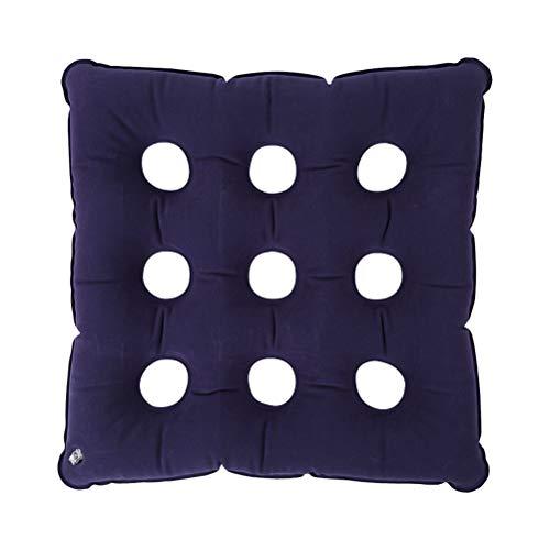 Healifty Luftaufblasbares Sitzkissen, quadratisch, Medizinisches Luftkissen, aufblasbar, Anti-Schlafenstuhl-Polster, atmungsaktives Kissen (lila)