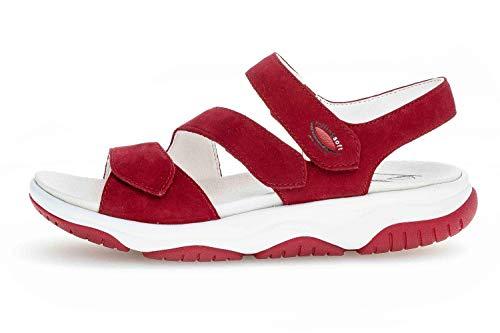 Gabor Rollingsoft Sandalen in Übergrößen Rot 46.827.48 große Damenschuhe, Größe:44