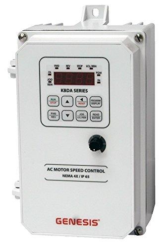 KB Electronics, 9537, KBDA-24D (White), 1HP, 1-Phase, 110-120V;200-240V (Input), Nema 4X Enclosure, Variable Frequency Drives