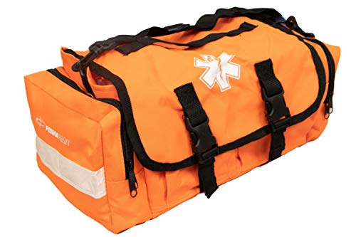 Primacare KB-RO24 Empty First Responder Bag, Professional Compartment Kit Carrier for Trauma and Emergency Medical Supplies, Orange, 15 x 9 x 8 inches