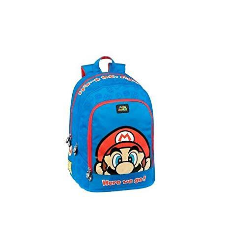 Zaino Scuola Organizzato Super Mario - Blu