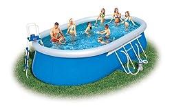 Bestway 56153 oval fast set pool set mit filterpumpe for Ovaler pool zum aufstellen