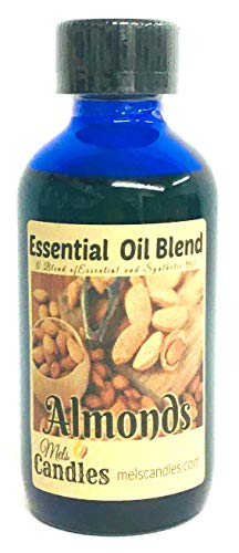 Almond 4 Ounce Blue Glass Bottle of Premium Grade A Fragrance Oil/Essential Oil, Skin Safe Oil, Use in Candles, Soap, Lotions, Etc