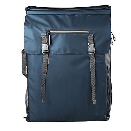 Staffelei Sitzstaffelei Drawboard Bags Double Shoulder Canvas-Tasche Sketch Sketch Leinwand-Bildertasche mit großer Kapazität HUYP (Color : Blue)