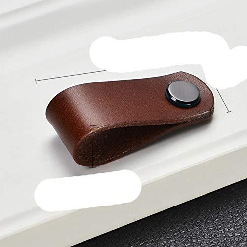 Perillas de cajón de cuero italiano de estilo nórdico armario zapatero armario de vino manija de piel de vaca tiradores de muebles Hardware