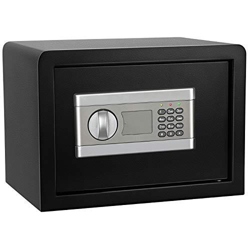 Caja fuerte digital electrónica para el hogar, a prueba de fuego, impermeable, antióxido, antiarañazos, para familias, oficinas o empresas para proteger dinero en efectivo, documentos, joyas