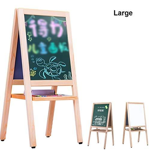 Bxhb KinderEasel Dubbelzijdig Whiteboard en Blackboard Verticaal Easel Met Magnetische, Digitale En Opslagladen Voor Vroeg Onderwijs
