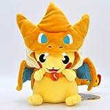 YWMXDZ Charizard Pikachu Cartoon Toy Pikachu Plush Stuffed Toys Poke-mon Pillow 9.8