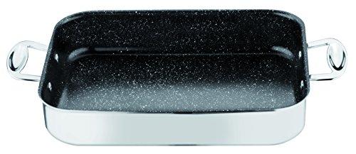 MEPRA Glamour Stone Rostiera, 35 x 25 cm, Acciaio Inossidabile 18/10