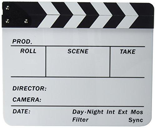 Neewer® acrílico plástico 10x12 /25x30cm tablilla de película Director Cine, borrado en seco, Chapaleta Junta Pizarra de parar Acción Escena con Blancos/Negros Palos