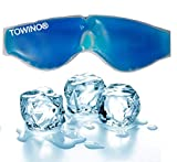TOWINO® Cooling Gel Relaxing Eye Mask for Dark Circles, Dry Eyes, Cooling Eyes, Pain Relief,...
