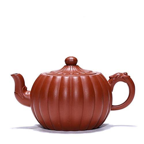 Tea Maker Pot Rib Pattern Daisy Zhuni Yixing Teapot Famous Handmade Teapot Travel Tea CRTTRC Teapot (Color : Zhu Mu, Size : One Size)