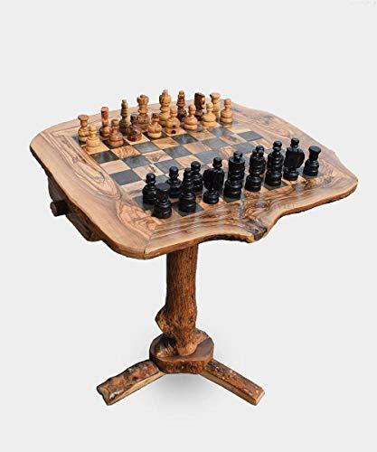 OLIVIEU ~ INTELLIGENTE ~ großes Schachspiel Holz Hochwertig ~ mit Schachfiguren ~...