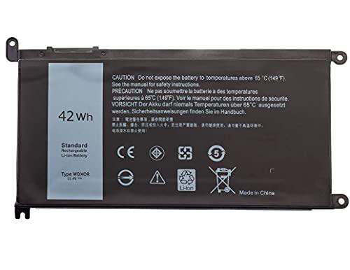 11.4V 42Wh Batería WDX0R WDXOR para Dell Inspiron 13 5368, 5378, 7368, 7378, Inspiron 15 5568 7569 7579 5578 5567 5565 Inspiron 17 5767 5765 Latitude 13 3379 Vostro 14 5468, 3CRH3 T2JX4 FC92N CYMGM