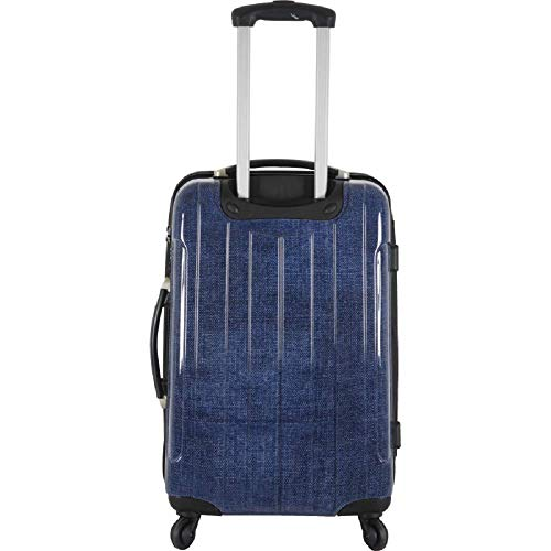 FRANCE BAG Valise 70 cm Rigide en Polycarbonate pour Long séjour – Navy Jeans -Bahamas