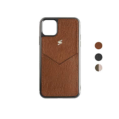 Suritt ® Funda para iPhone de Piel con Tarjetero Corteccia (3 Colores Disponibles). (iPhone 11 Pro, Brown)
