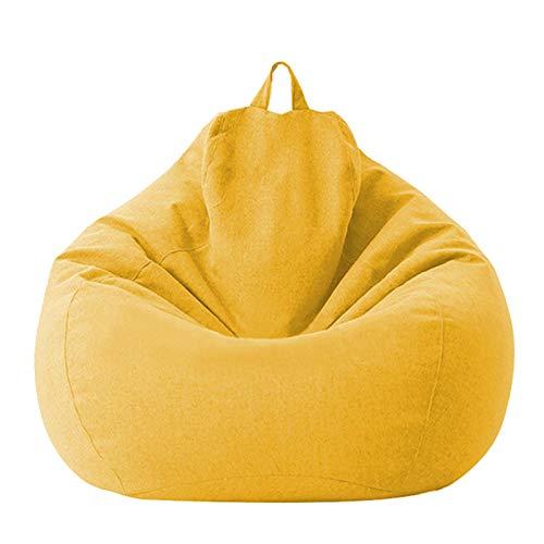 Bezug für Sitzsack, Bezug aus Baumwolle und Leinen, 100 x 120 cm, Sofabezug mit Reißverschluss, Sofabezug ohne Füllung, staubdicht, Stuhl mit Aufbewahrungsbox für den Außenbereich, innen