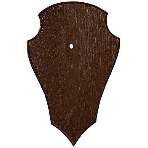 K&S Wildkameras Tablero de madera de roble para oídos, diseño de Gamsbock oscuro sin trofeo, con inserto de pino