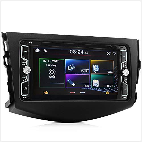 TUNEZ® 7 Pouces Double Din Voiture Audio DVD CD USB SD MP3 MP4 Lecteur Compatible avec RAV4 Radio stéréo Fascia Kit