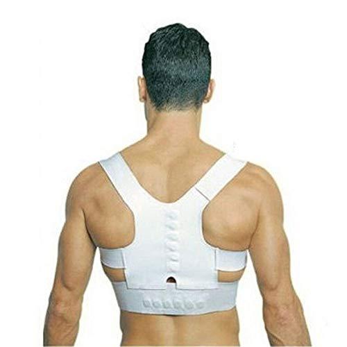 JIUYUE Corset Hombres, Mujeres, enderezar, Espalda, Hombro, Postura, Soporte, Corrector, cinturón ortopédico, Ajustable, Salud, Coche (Color : White)