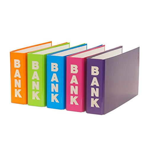 5 Bankordner / 140x250mm / je 1x orange, hellgrün, hellblau, pink und lila