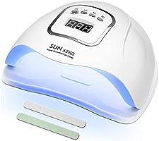 MOULEI Lampe UV Sèche Ongles, 150W UV LED Séchoir à Ongles Professionnel Automatique, Séchage Rapide 4 Minuterie de...